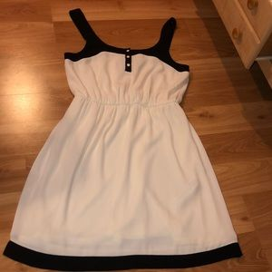Black and White Dress with Buttons